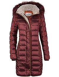 MILESTONE Softdaunen Jacke Damen Daunen Mantel mit Kapuze