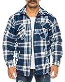 Herren Thermohemd gefüttert Arbeitshemd Jacke - mehrere Farben ID531, Größe:3XL;Farbe:Blau