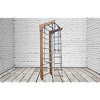 Madera maciza - haya! Zona de juegos de madera para interior Bambino-02-220 Escalera sueca Complejo deportivo de gimnasia