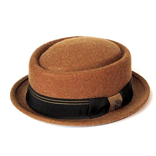 DASMARCA-Collection hivers-déformable et Compressible-Chapeau en Feutre de Laine Camel-Quintin-L