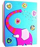 Unbekannt Fotoalbum aus Holz -  Elefant  - Photoalbum Kinderalbum 3D Bild - Kinderland - Kinderfotoalbum / Fotobuch - Album Kinder - Erinnerungsbuch - Tiere / Zootier..