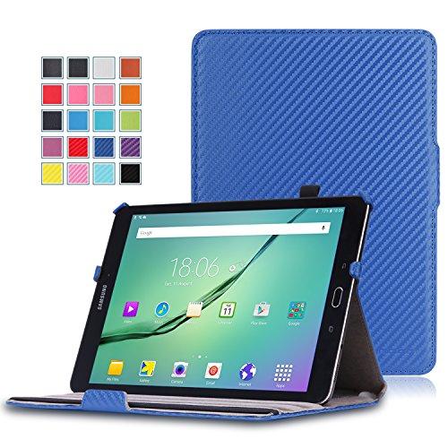 MoKo Samsung Galaxy Tab S2 9.7 Hülle - Slim-Fit Multi-Winkel Kunstleder Tasche Smart Cover mit Auto Schlaf / Wach Funktion und Standfunktion für Galaxy Tab S2 9.7