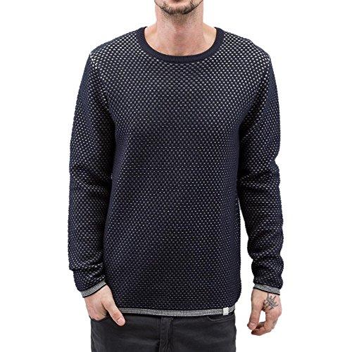 SHINE Original Herren Oberteile / Pullover Texture Knit Blau