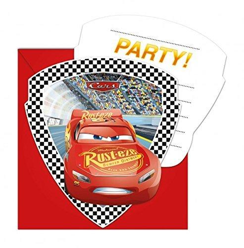 6 Einladungen und Umschläge * CARS 3 * für Kindergeburtstag oder Motto-Party // Invitations Einladungskarten Kinder Geburtstag Lightning McQueen Disney Pixar Rennautos