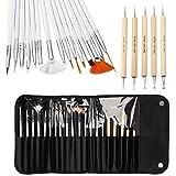 ONE1x nail art brushes nail art design painting Detailing brushes & dotting Pen Tool kit set -15Brush + 5dotting Pen immagine