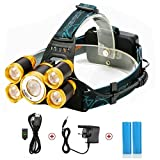 Best Headlights - LED Headlamp Headlight,SGODDE Head Torch,5 LED 8000LM +2 Review