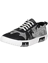 Emosis Stylish Black Blue Green Grey Brown Red Casual Party Wear Canvas Lace-Up Derby Shoes For Men