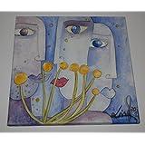 Bild auf Leinwand, Acrylmalerei, 3 Frauen, Original