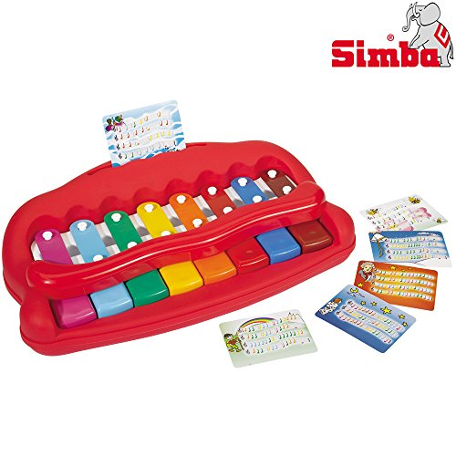 Simba Klavier für Kleinkinder mit 6 Liederkarten, Länge 40 cm // Kinder Spielzeug Keyboard Erstes Piano Musik Instrument Spielklavier (Kleinkind-klavier)