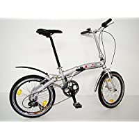 GermanXia - Bicicleta plegable (8 velocidades, 20