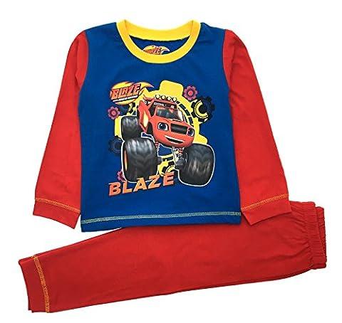 Nickelodeon Jungen Schlafanzug Gr. 18-24 Monate, Rot - Red - Blaze