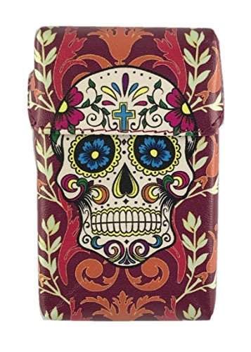 Offre Lagiwa - Etui à paquet de 20 cigarettes couleur au choix avec 1 cadeau bonus (Tissu Skull Blanc)