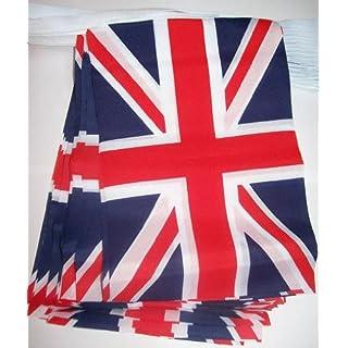 AZ FLAG UNITED KINGDOM 3 meters BUNTING FLAG 10 flags 9'' x 6'' - UK - BRITISH - ENGLAND STRING flags 15 x 21 cm