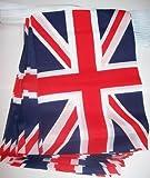 GUIRNALDA 4 metros 20 BANDERAS del REINO UNIDO 15x10cm - BANDERA INGLESA - BRITANICA – UK 10 x 15 cm - BANDERINES - AZ FLAG