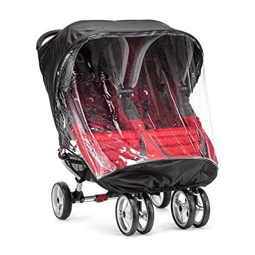 Baby Jogger BJ90452 City Mini Wetterschutz für Doppelwagen, transparent - City Double Jogger Mini