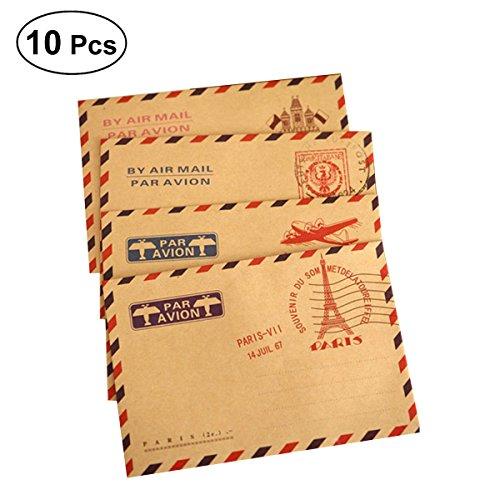 NUOLUX carta Buste Vintage in kraft Busta di invito di auguri (modello casuale) 10PCS