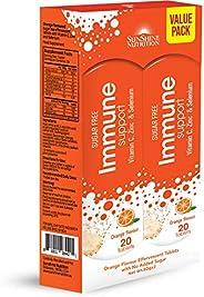 ألسنة برتقالية لتغذية المناعات من صن شاين نيوتريشن، عبوتان × 50.8 سم
