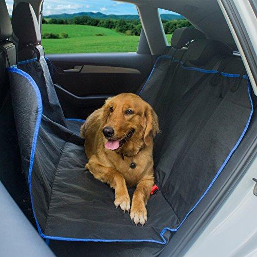Funda de Coche para Perros, Keten Protector Impermeable Antideslizante Anti Arañazos de Asientos con Anclajes, Bolsa de Transporte y Cinturón de Seguridad Para Mascotas en Coches y Camiones