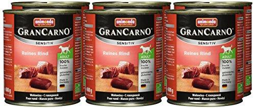 Animonda Gran Carno Sensitive Adult Reines Rind, 6er Pack (6 x 800 g) - 2