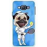 Tennisspieler Mops mit Ball & Schläger Hartschalenhülle Telefonhülle zum Aufstecken für Samsung Galaxy A3 (A300F/FU)