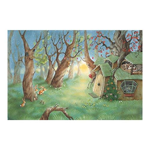 Vliestapete-Wassili und Sibelius schlafen-Wandbild breit
