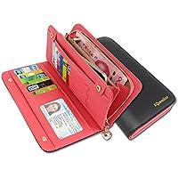 KQueenStar Slim Leather Wallet modo delle donne titolare della carta Portafoglio - Sostituzione Porta Pelli