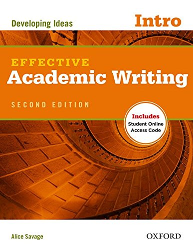 Portada del libro Effective Academic Writing Second Edition: Effective Academic Writing 2nd Edition Intro Student's Book with Online Practice