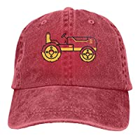 Qialia Tractor Unisex Adult Cap Adjustable Cowboys Hats Baseball Cap Fun Casquette Cap Black