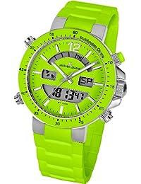 Jacques Lemans Unisex-Armbanduhr Milano Analog - Digital Silikon 1-1712F