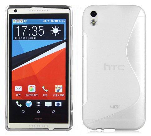 Cadorabo - Design 'S' Housse Gel (silicone) pour HTC DESIRE 816 - Etui Coque Case Cover Bumper en SEMI-TRANSPARENT