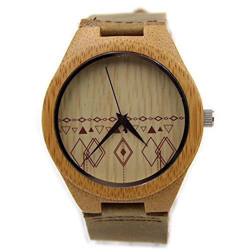 Shou&bz Das neue Holz-Uhren / Unisex / natürliche Holz / Bambus / paar Uhr / Leder Armband / Geschenk / tragbar / Zubehör , men