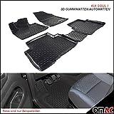 KIA SOUL I 2008-2014Tappetini in gomma Polymer alta 3d gomma tappetini per auto