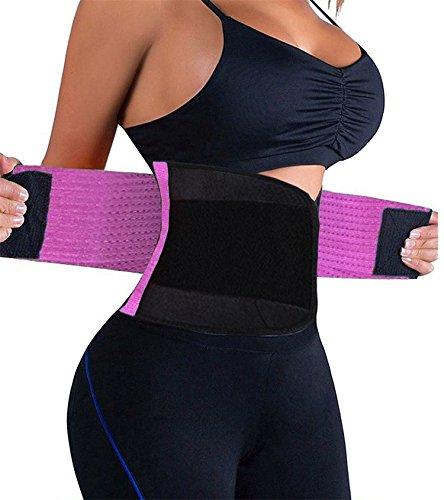 Shapewear Damen Fest Im Griff (FOUMECH Damen Taille Trainer Belt-Waist Fördert Das Schwitzen Trimmer-Slimming Body Shaper Belt-Sport Girdle Gürtel, Damen, Violett, XX-Large(39.4