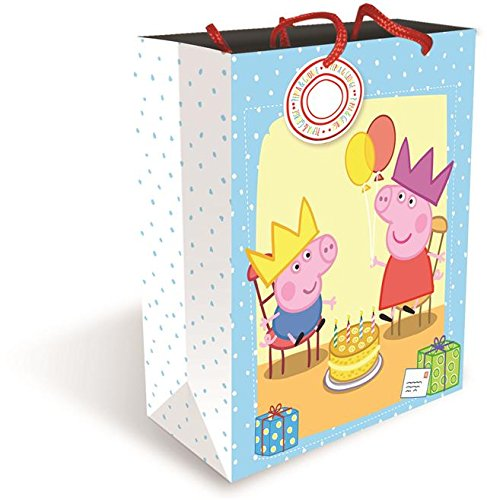 Peppa Pig Busta regalo di Peppa Pig, grande, lucida