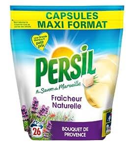 Persil Lessives 26 Capsules Fraicheur Naturelle Bouquet de Provence - Lot de 2