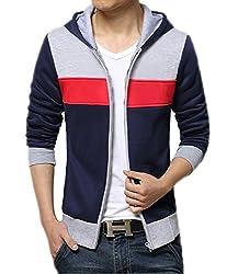 AWG Men's Premium Rich Cotton Pullover Hoodie Sweatshirt with Zip
