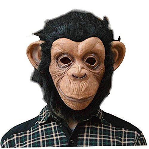8888Mall® Halloween Maske Tier Maske Latex Material Gorilla Maske Big Mouth Affe Maske (Gorilla Kinder Maske)