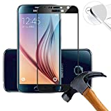 2 x Pack (piena copertura) Protezione Schermo vetro temperato per Samsung Galaxy S6 SM-G920F 5.1 Pollice Film ultra-duro vetro 9H (Nero)