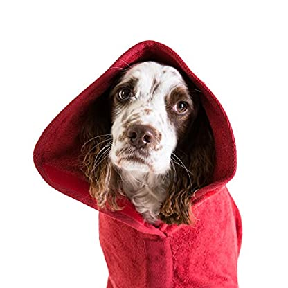 Ruff and Tumble Dog Drying Coat - Classic Collection (XXXS, Brick Red) 9