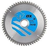 OX ox-tcta-210306060Zähne TCG Aluminium/Kunststoff/Laminat Schneiden Kreissägeblatt, 0V, silber/blau, 210/30mm