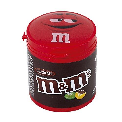 M&M's Boîte Plastique Refermable Contenant des Chocolat au Lait - Lot de 6