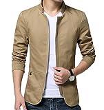 Arkind Homme Veste Blazer Vestons Slim Fit Costume Jacket Blouson Casual, Marron, M