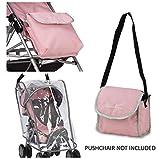 Silver Cross Pop kit di accessori universali per passeggini per bambole - Tessuto Vintage Pink