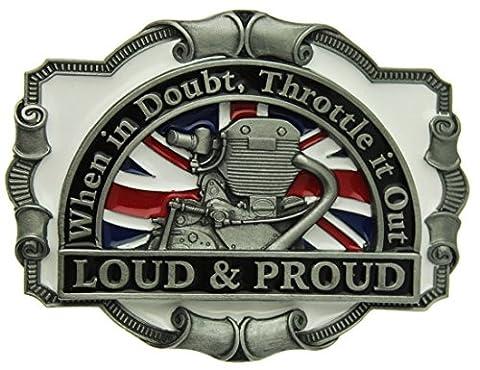 Boucle de ceinture Loud & Proud, When In Doubt, Throttle It Out en un de mes présentation en coffrets.
