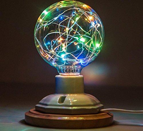 Applique murale Edison LED Creative Couleur Ampoule E27 Coloré Fil De Cuivre Lightning Star Glitter KTV Ampoule Décorative