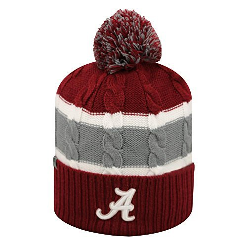 Youth Cable Knit Alabama Crimson Tide Bama Beanie by Top of the (Crimson Knit Beanie)