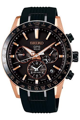 Seiko astron Herren Uhr analog Solar mit Silikon Armband SSH006J1