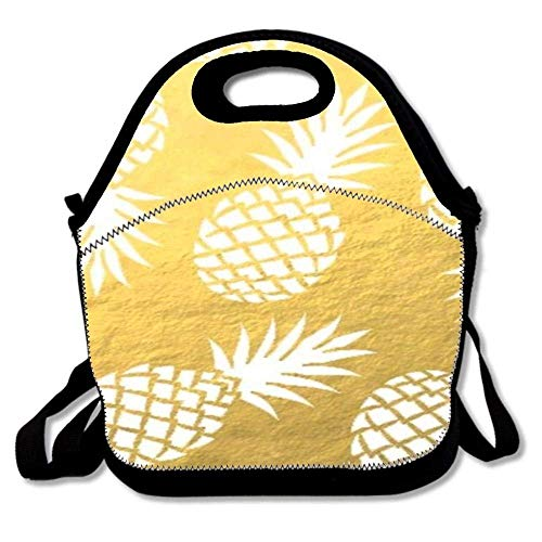 38bb02632ca2 Fgrygf Unique Insulated Super Lunch Bag Tote Reusable Waterproof School  Picnic Carrying Gourmet Lunchbox Container Organizer - Aloha Pineapple 1  High ...