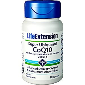 513oCnHzDjL. SS300  - Life Extension Super Ubiquinol CoQ10 with Enhanced Mitochondrial Support, 200mg, 30 Softgels