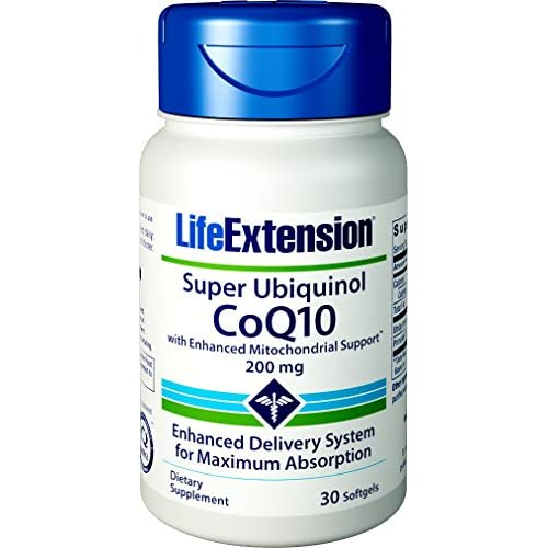 Life Extension Super Ubiquinol CoQ10 with Enhanced Mitochondrial Support, 200mg, 30 softgels